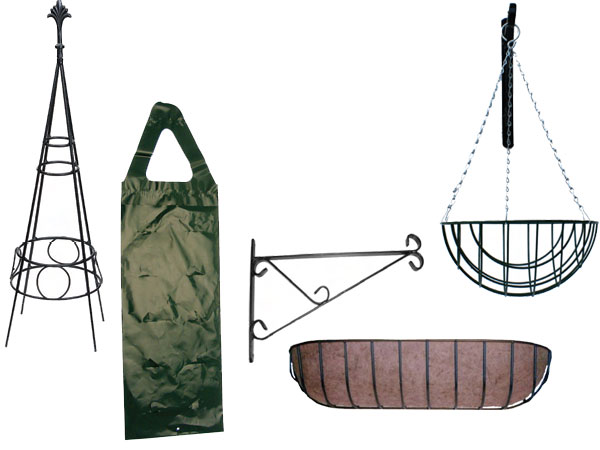 Wire Planters, Liners & Flower Bags